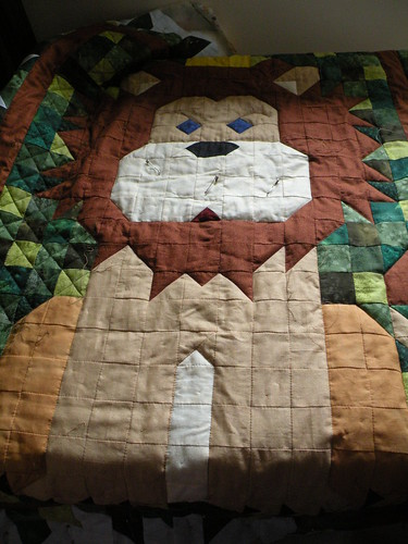 Lion quilting
