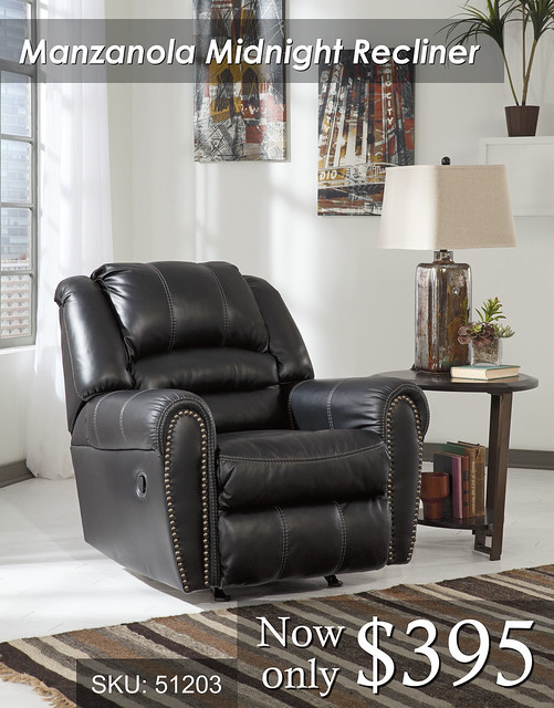 Manzanola Midnight Recliner