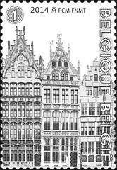16 Markt Van Antwerpen timbre e
