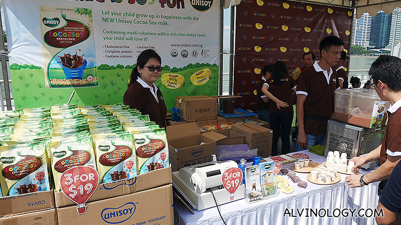 Unisoy booth to sell products
