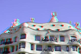 La Pedrera casa Mila Gaudi Barcelona 3D