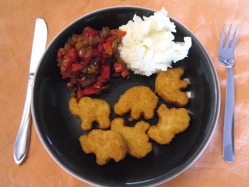 Dinner with vega safari nuggets