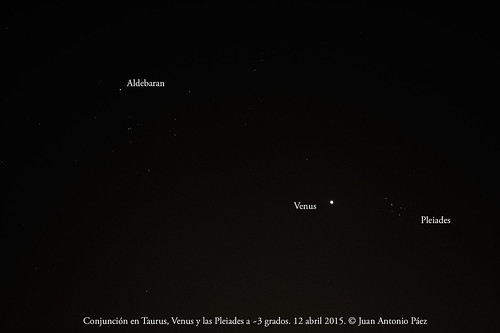 Conjunción Venus Pleiades
