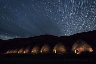 Glowing Kilns at Night