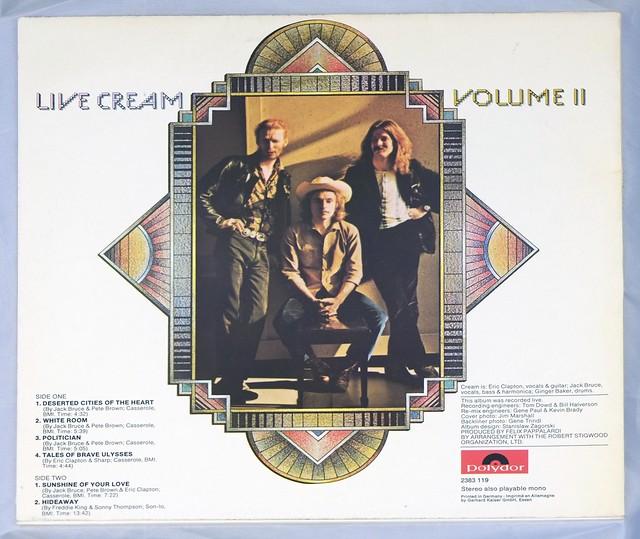 """CREAM Live Cream II Polydor 12"""" LP ALBUM VINYL"""