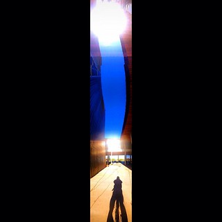 """""""Bicyclist's Shadow Under Arizona Suns"""" #sun #suns #shadow #iphoneography #digitalart #spacetime #relativity #panorama #perception #appearance #twosuns #shadows   #paulewing"""