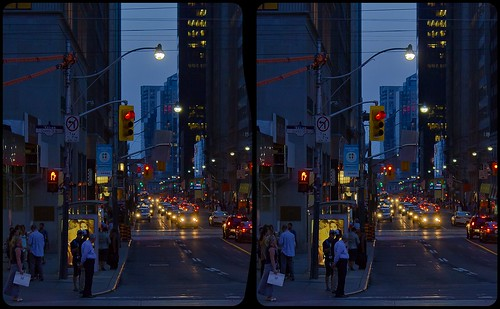 Toronto in twilight 3D ::: HDR'by'RAW Cross-Eye Stereoscopy