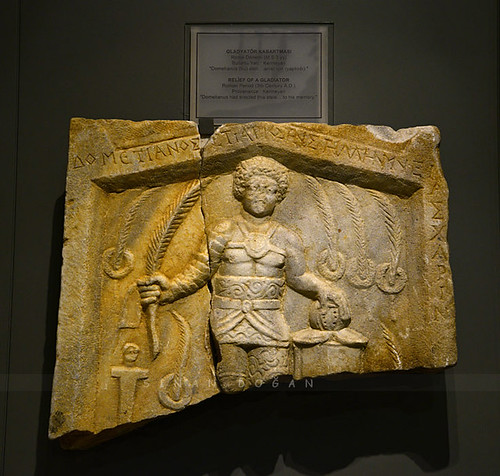 Roma Dönemi Gladyatör Kabartması