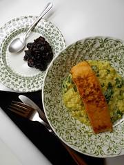 Lentil-crusted salmon