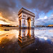 Sunset on Place de l'Etoile after a rainy day by Loïc Lagarde