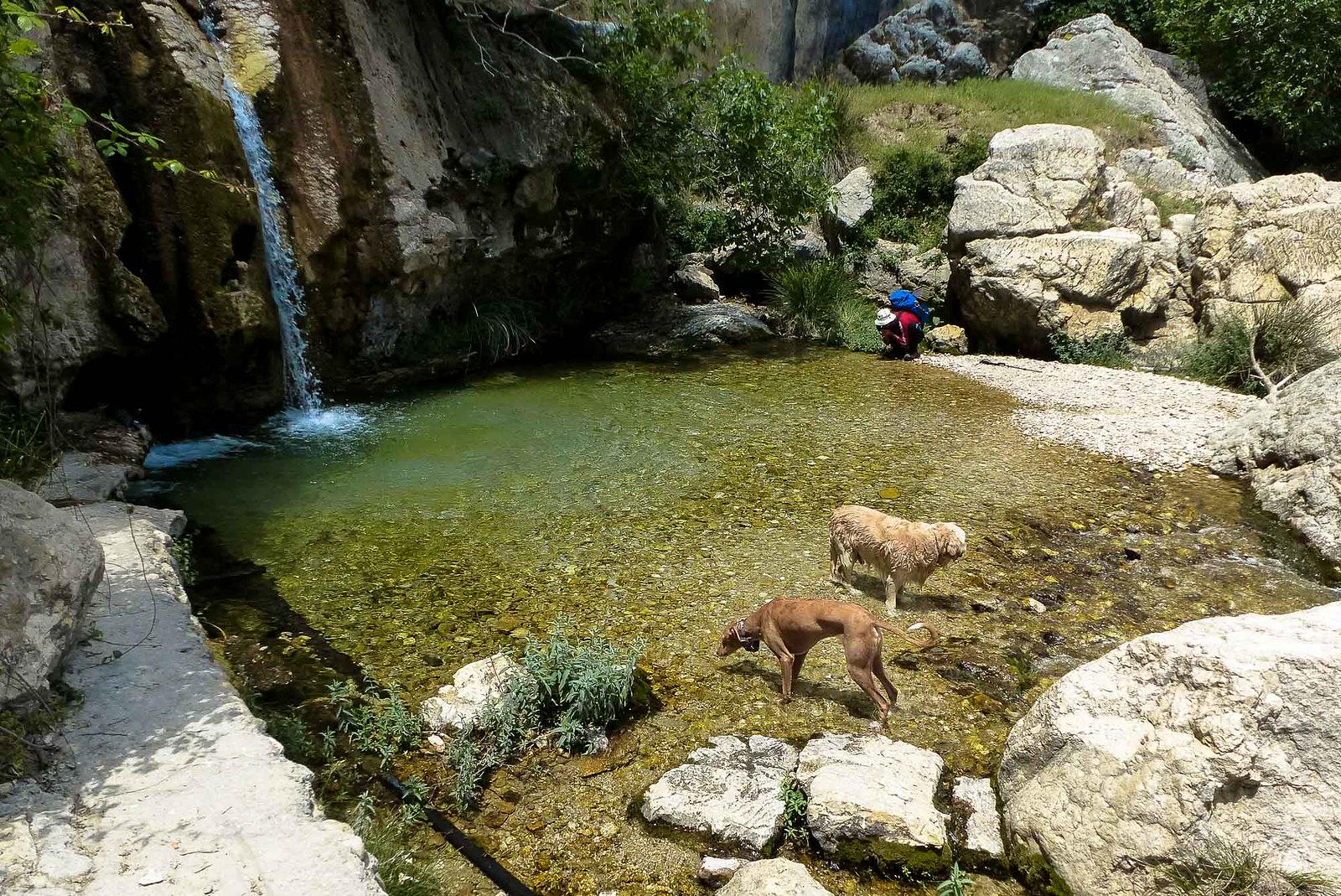 Nos refrescamos en el barranco de la Magdalena