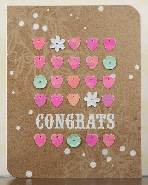 Heart Sequin Grid Congrats Card | shirley shirley bo birley Blog