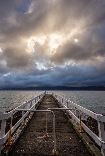 newzealand clouds sunrise jetty overcast wharf wellington handrails karakabay leadin