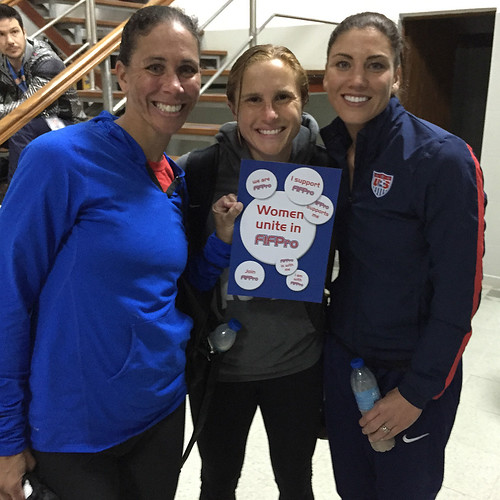 Shannon Boxx, Amy Rodriguez and Hope Solo