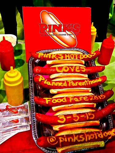 pink's hotdogs attebds every event
