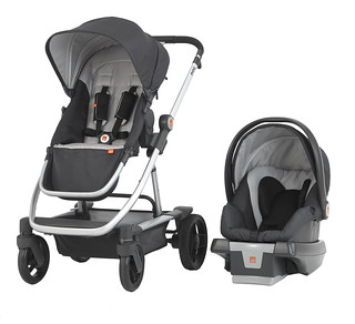 GB Evoq Travel System_Sterling_3-4 view_with Asana35 AP Infant Car Seat_preferred press photo_3000