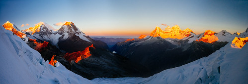 panorama lake peru sunrise altitude climbing alpine valley mountaineering iceclimbing pisco huascaran cordillerablanca yanapaccha huandoy chopicalqui