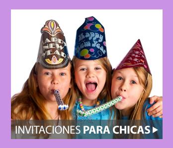 Invitaciones de cumpleaños para chicas