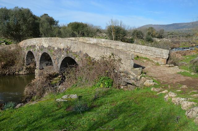 Roman bridge near Birori, Sardinia