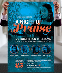 Praise Concert Flyer and Poster Template