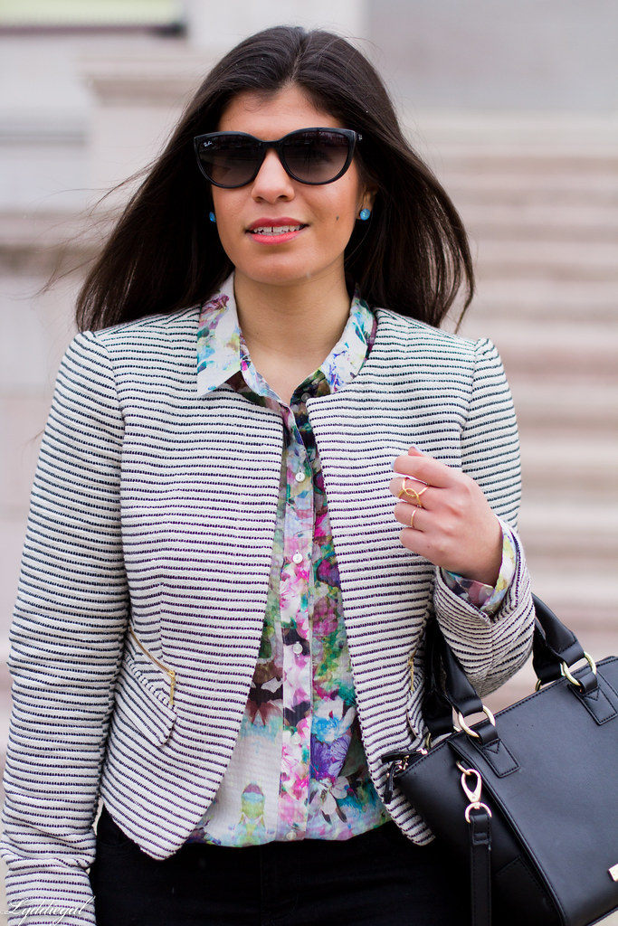 striped blazer, floral shirt, black pants, ballet flats-4.jpg