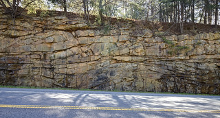 Crossbedding, Crab Orchard sandstone, Highway 68, Rhea County, Tennessee