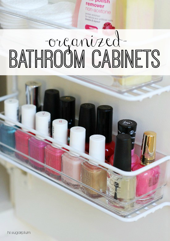 Hi Sugarplum!: {Organized} Master Bathroom Cabinets