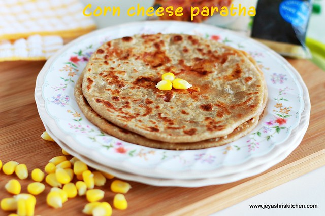 Sweet-corn+cheese +paratha