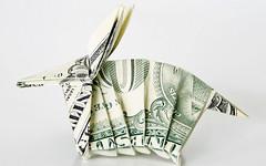 Banknote origami animal