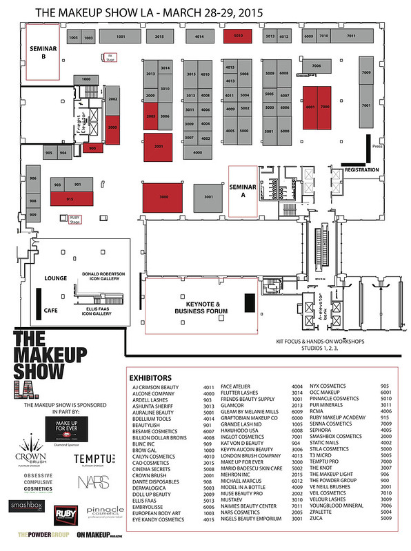 The Makeup Show LA 2015 floorplan