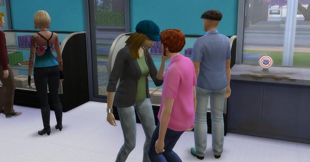 Goopy flirting on the job