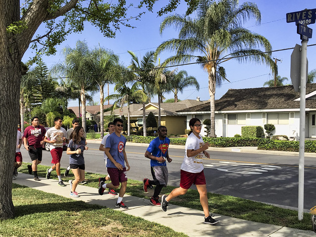 Downey High School joggers