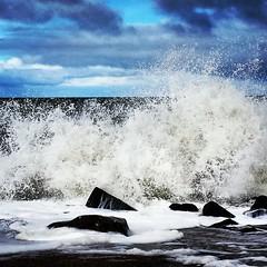 Wellen am Strand Strand in Dänemark