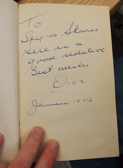 Diary of a Flight to Occupied German book by Richard E Berlin - Inscription Spyros Skouras sedative funny 1946