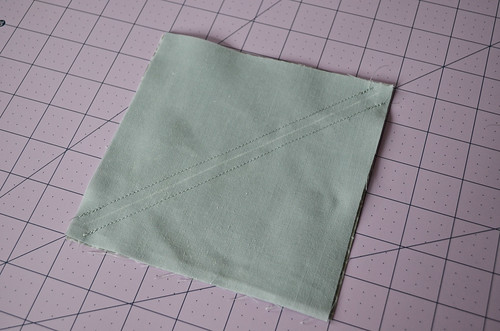 HSTs 4: Sew along other side of line