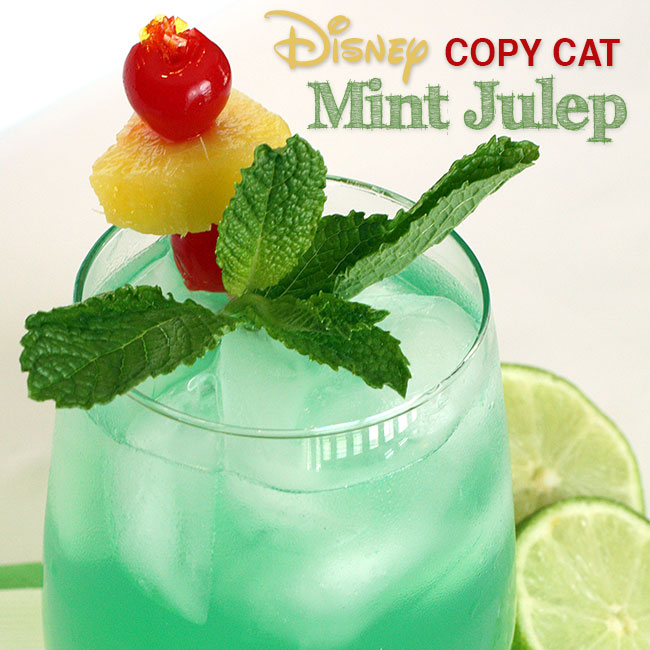 12 months of drinks april disney s mint julep recipe for Fun alcoholic drinks to make
