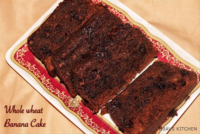 Whole Wheat Banana Chocolate Cake Recipe for Toddlers and Kids 3