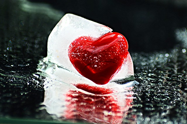 Only true love can nelt this ice cold heart