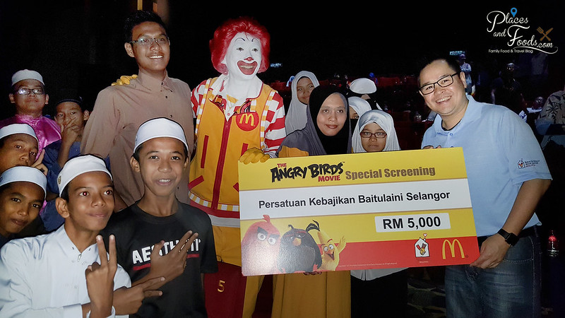 mcD angry birds screening donations
