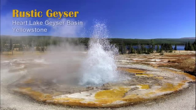 Heart Lake: Rustic Geyser full eruption