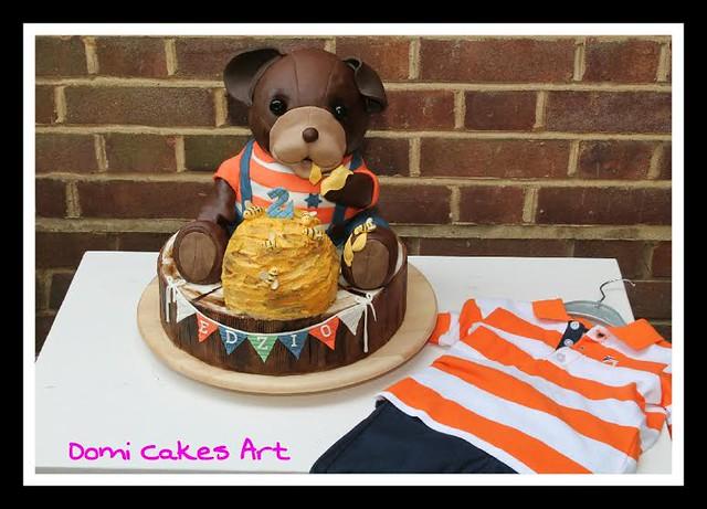 Cute Dog Cake by Dominika Grochola From DomiCakesArt