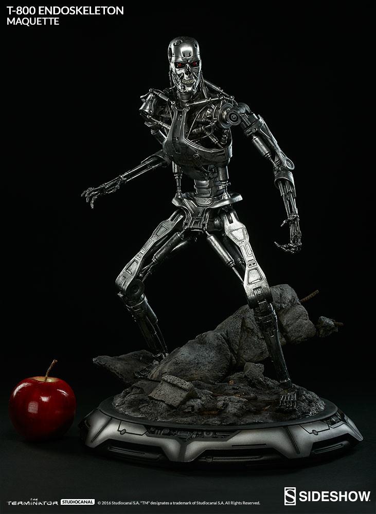 Sideshow Collectibles【魔鬼終結者:T-800 內骨骼】Terminator T-800 Endoskeleton 全身雕像作品