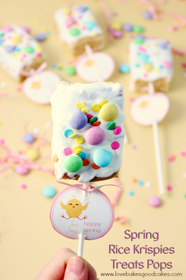 Spring Rice Krispies Treats Pops