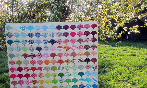 Rainbow Clams quilt