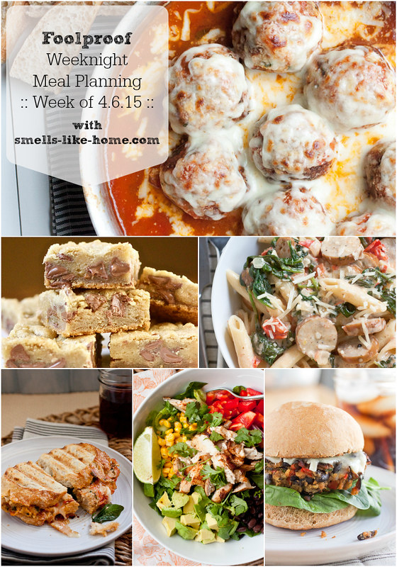 Foolproof Weeknight Meal Planning - Week of 4.6.15