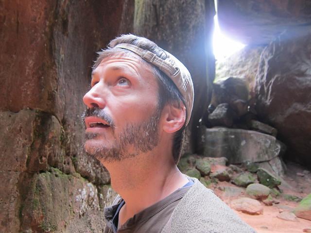 Kurt Admiring the Caves in Torotoro