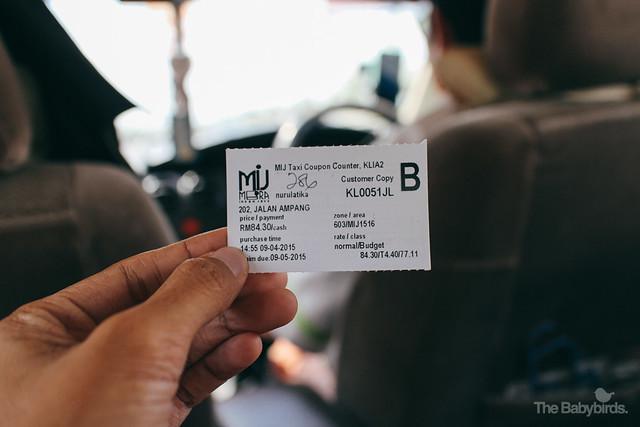 Taxi to Kuala Lumpur