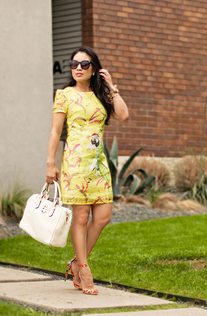 Yellow dress sandals