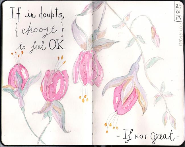 moleskin-sketch-art-journal-page-feel-ok-motivational-watercolour-flowers-pastel