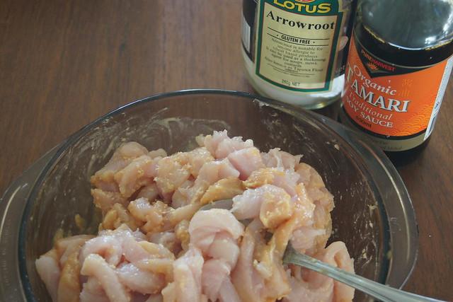Chicken, cashew and ginger stir fry DSC02912